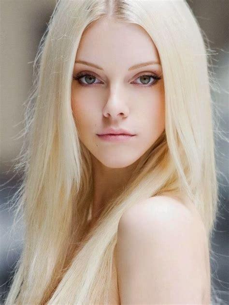 Bleach Blonde Hair With Blue Eyes