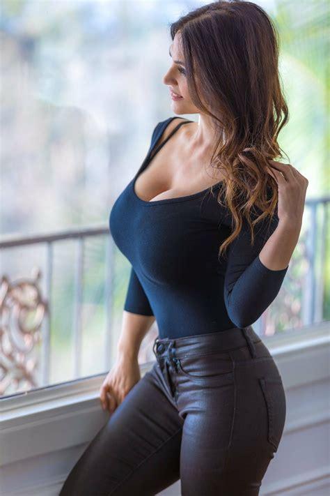 Hot Brunette Big Tits GIF