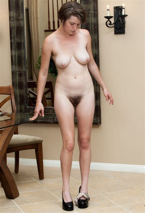 Older Nude Woman Standing Naked