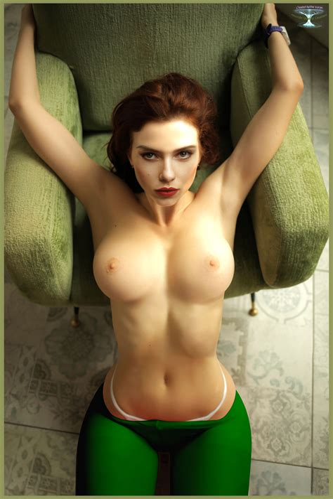 Scarlett Johansson Black Widow Marvel Art