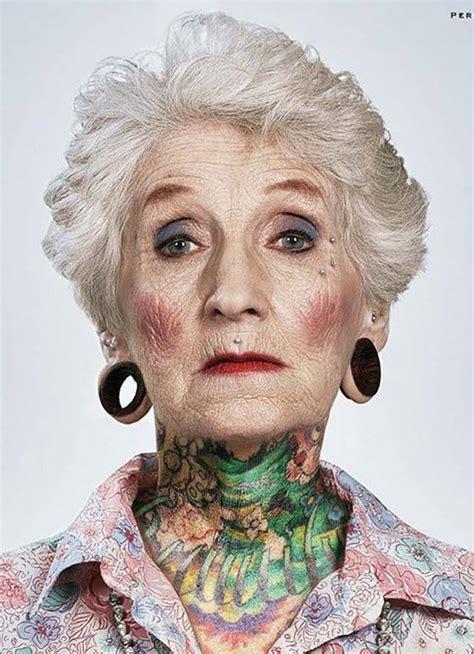 Topless Older Women